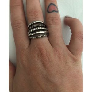 Brighton Silver Neptune's Rings Ring